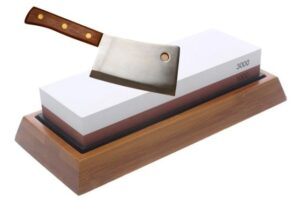 Sharpen A Cleaver With A Whetstone