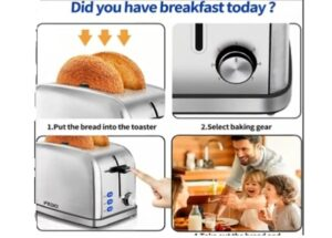 Retro Stainless Steel Bread Toaster
