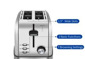 ifedio 2 slice toaster